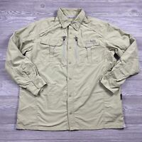 Cabela's Button Shirt Adult Size XL Green Long Sleeve Fishing Vented Upf50 Aa78