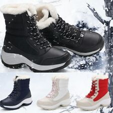 Women's Winter Boots Warm Waterproof Platform Snow Shoes Fur Lace Up Boots