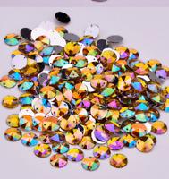 100X AB Gold Round A GRADE sew On Jewel 10MM GEM CRYSTAL RHINESTONE trim  #3