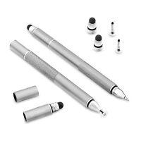 Black Universal 3in1 Precision FiberMesh Mini Jot Disc Fine BallPoint Stylus Pen