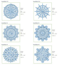 """ABC Designs 18 Free Standing Lace Snowflakes Embroidery Designs Set 5""""x7"""" Hoop"""