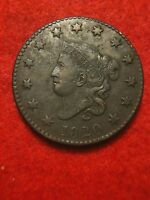 1820 Coronet Matron Head Large Cent XF+ Extremely Fine EF Penny Perfect Color 1c
