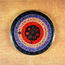 """Vintage Fortune Teller Game Fridge Magnet 2 1/4"""" Mystiscope Horseshoe Anchor Key"""