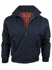 New Mens Classic Harrington Bomber Jacket Retro Mod Skin Scooter Navy Wine Black