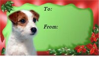 Parson Jack Russell Terrier Xmas Labels by Starprint