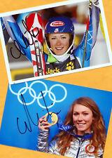 Mikaela shiffrin - 2 top autógrafo-imágenes (17) Print copies + ski ak firmado