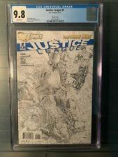 Justice League New52 2011 #2 CGC 9.8 NM+! 1:200 Jim Lee Sketch Variant!