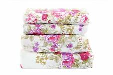 4 pcs Bedding Sheet Set Pink & Purple Floral