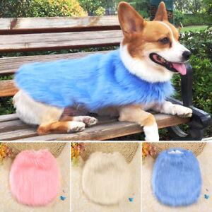 Fashion Dog Fur Coat Warm Fleece Jacket Winter Clothes Girl for Small Medium Dog