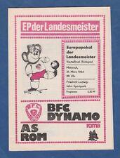 ORIG. PRG EC 1 1983/84 BFC Dinamo Berlino-AS Roma 1/4 finale!!! RARO