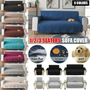1/2/3 Seat Sofa Cover for Dog Pet Set Reversible Quilted Protector Anti-Slip NEW