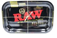 RAW metal rolling tray. Features RAW® Black graphic • Sold Individually 11x7