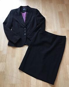 ladies smart black skirt suit  size 10
