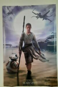 Star Wars The Force Awakens Rey Movie Poster 22x34 inch
