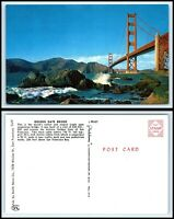 CALIFORNIA Postcard - San Francisco, Golden Gate Bridge H5