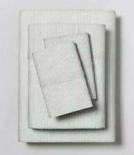 Hearth & Hand w Magnolia Railroad Gray Microstripe Organic Cotton Sheets ~ Full