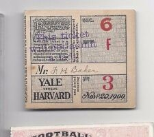 1909 11/20 college football ticket stub Yale v Harvard