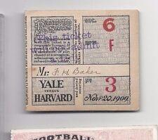 1909 11/20 college football ticket stub Yale v Harvard