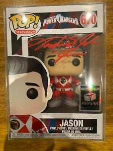 Funko Power Jason #670 Red Ranger Signed By Austin St John LE 25 Monthly Pops