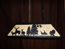 Laser cut Steel Whitetail and Turkey Pool Table Light Lamp hunt cabin BLACK