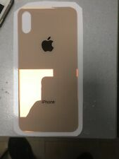 BACK COVER IPHONE X POSTERIORE IN VETRO GOLD/ORO CON BIADESIVO