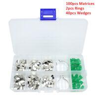 Componibile Sagomato Metallo Dentale Matrice Dental Metal Matrix Kit 142PCS