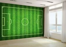 Real Green Grass Soccer Field Wallpaper Mural Photo 9520052 budget paper