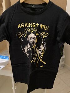 AGAINST ME! Black Me Out Ski mask Punk Rock Band Shirt Medium Laura Jane Grace