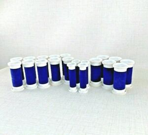 20 Vintage Clairol Flock Covered Aqua-Curl Replacement curlers  Model K-40  BLUE