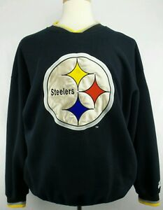 Vintage Starter NFL Pittsburgh Steelers Crew Neck Sweater Size Mens XL