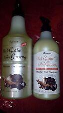 2 Pack Moisture Shampoo Black Garlic & Red Ginseng and Moisture Hair Treatment