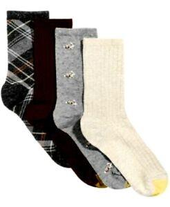 Gold Toe Women's 4-Pk. Casuals Socks Assorted Colors Shoe Size 6-9