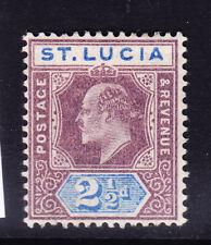 ST LUCIA E VII 1902 SG60 21/2d dull purple & ultramarine wmk Crown CA m/m cat£38