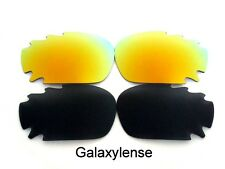 Galaxy Replacement Lenses For Oakley Racing Jacket Black&Gold Polarized 2Pair