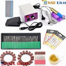 PROFESSIONAL ELECTRIC NAIL FILE DRILL Manicure Tool Pedicure Machine Set kit USA