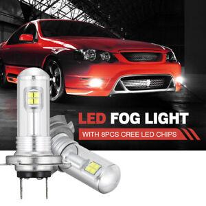NIGHTEYE H7 160W LED Car Fog Light Bulbs Headlight Daytime Globe Lamps DRL AU