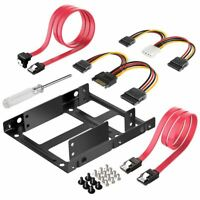 2X 2.5 inch SSD to 3.5 inch Internal Hard Disk Drive Mounting Kit Bracket (SATA