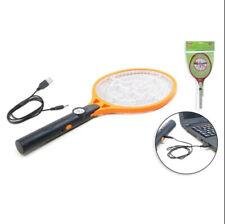 Raquette Tapette Rechargeable USB Electrique Anti insectes  Moustiques + Lampe