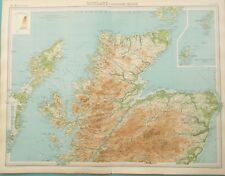Large Map of Northern Scotland. 1922. PERTH. LOCH NESS. ABERDEEN.  Original