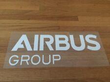 AIRBUS GROUP PATCH FLOCAGE RUGBY FLEX BLANC - 21 CM PAR 8 CM