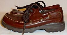 BASS, BOYS BROWN LEATHER BOAT SHOE, SIZE 2 M