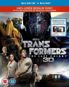 TRANSFORMERS The Last Knight (2017) 3D + 2D Blu-Ray BRAND NEW Free Ship