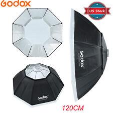"Us Godox 120cm 47"" Octagon Softbox + Bowens Mount Speedring for Studio Flash"
