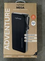 myCharge - Adventure Mega Portable Charger for Most USB-Enabled Devices - Black.