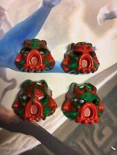 Lego Bionicle 2002 Infected Hau Nuva Mask Set of all 4 variants Kanohi Masks