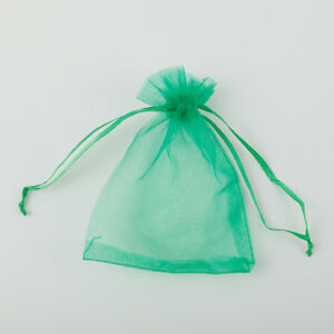 5Sizes 25/100pc Organza Wedding Party Xmas Jewelry Favour Gift Bags Pouch Decor