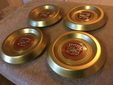 1956-58 Cadillac Gold Anodized Center Caps w/ Medallions (Set of 4)