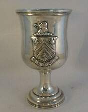 """Coin Silver Gorham & Thurber Goblet-6"""" w/Coat of Arms"""