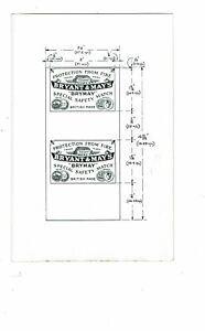 1 Old Bryant & May 1900s Proof matchbox label Ark Security size 192x126mm