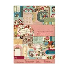 A4 ULTIMATE PAPER & DIE CUT PACK - VICTORIAN VALENTINE COLLECTION - DOCRAFTS